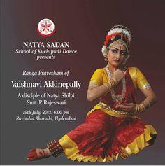 Natya Sadan, School of Kuchipudi dance presents a Kuchipudi Rangapravesam by Vaishnavi Akkinepally at Hyderabad.  Event details: www.margazhi.org/kuchipudi-rangapravesam/  Subscribe to our fortnightly newsletter here www.eepurl.com/hZd72