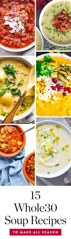 15 Whole30 Soup Recipes to Warm You Up All Season via @PureWow via @PureWow