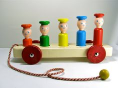 1950's Playskool Wooden Toy by OliveandFrances on Etsy, $33.00