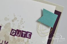 born2stamp STAMPIN' UP! Geburtstagskarte - Labeler Alphabet - Gorgeous Grunge