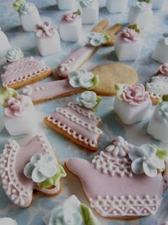 Beautiful Tea Cookies and Sugar Cubes