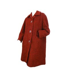 Vintage Mod 60s Coat Red Boucle Coat $99.00 by susiesboutiquecloths