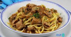 Espaguetis con chipirones encebollados Blog con recetas sencillas, rápidas y económicas de cocina tradicional realizadas por Ana Sevilla Los Fogones de Ana Sevilla
