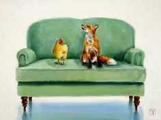well... this is awkward, painting by artist Kimberly Applegate