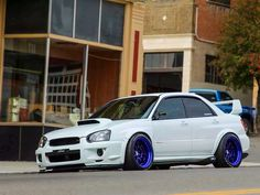 Subaru STI.  Guys' dream car. my favorite car of all time i also know the guy who ownes this sti