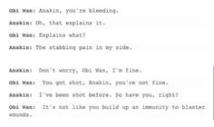 Oh, that explains it. Explains what? The stabbing pain in my side.