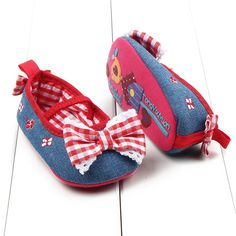 >> Click to Buy << New Vintage Autumn Soft Baby Girls Bowknot Embroidery Plaids Cotton Anti-skid Sole Crib Shoes First Walk Shoes M2 #Affiliate