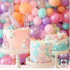 "34 Likes, 1 Comments - Kristigojmerac (@mama.support.group) on Instagram: ""•beautiful mermaid themed cake for a birthday• #cake#mermaid #mermaidtheme #babygirl #birthday…"""