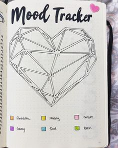 15 Awesome Mood Trackers to Try in Your Bullet Journal - Simple Life of a Lady Starting a mood tracker? Here are different kinds of mood trackers that you can copy in your bullet journal. Bullet Journal Tracker, February Bullet Journal, Bullet Journal Notebook, Bullet Journal Ideas Pages, Bullet Journal Spread, Bullet Journal Layout, Bullet Journal Inspiration, Heart Journal, Arc Notebook