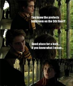 We know Cedric was trying to help Harry figure out how to open the egg...but imagine this scene in Harry's point of view XD