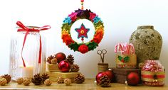 According to Matt...: Creative Christmas: Crocheted Christmas Wreath