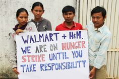 Cambodian Workers Camp Out, Hunger Strike Against Walmart and H | Labor Notes