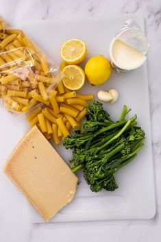 Ingredients for broccoli al limone. #ingredients #dinner Yummy Pasta Recipes, Delicious Dinner Recipes, Vegetarian Recipes, Yummy Food, Broccoli Pasta, Broccoli Recipes, Lemon Pasta, Vegetable Sides, How To Cook Pasta