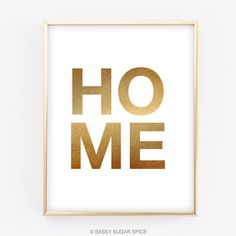 Home Digital Print Wall Art gold white typography Spring Decor inspirational quote minimalist instant download printable