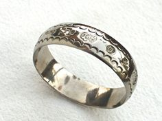 Taxco Mexico Bangle Bracelet Studio Solid by BoneStructure on Etsy