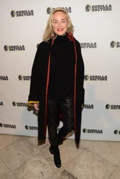 Sharon Stone attends the Gorilla Love fundraiser in support of Gorilla Doctors.