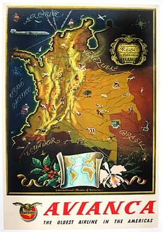 "Avianca Maps ""Colombia"""