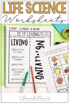 Disorganized and stressed out? Don't spend time planning your elementary science curriculum when you can easily teach your students about living and nonliving things with these fun worksheets and activities. First Day Of School Activities, Hands On Activities, Science Activities, Educational Activities, Fourth Grade Science, Elementary Science, Science Worksheets, Science Curriculum, Positive Character Traits