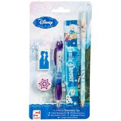 – stationery set including:- 1 x pen 1 x pencil 1 x ruler 1 x eraser 1 x sharpener- in a blister pack- official licensed product #disneyfrozen #frozengifts #frozenmerchandise #frozenthemovie #frozen #birthday #gift