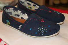 Embroidered Toms by emalc, via Flickr