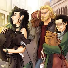 I feel like Thor would be that really sweet yet annoying brother and Loki is that 'constantly in a bad mood when she's around' person, then she's that emo Girly Goth girl Marvel Avengers, Marvel Fan Art, Marvel Jokes, Marvel Funny, Marvel Dc Comics, Marvel Heroes, Loki Thor, Hela Thor, Loki Laufeyson