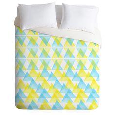 Hello Twiggs Arlequin Duvet Cover #triangles #unique #home #decor #bedroom #bright #neon
