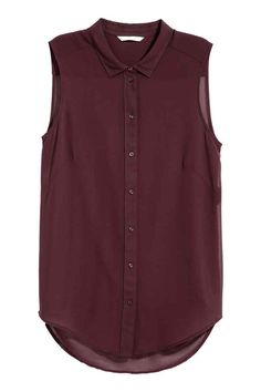 Mouwloze bloes - Paars - DAMES | H&M BE