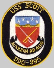 USS SCOTT DDG 995 Parking Sign US Navy USN Military