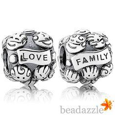 pandora charms family love