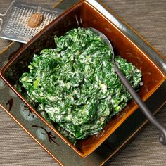 Oui, Chef: Creamed Spinach. A perfect recipe! And not as rich as you think. There's a reason it's a classic.