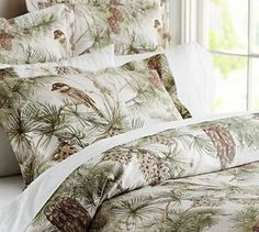 Pottery Barn Snow Pine Bird duvet. This is the set we ultimately chose for our bedroom.