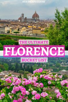 75 Fantastic & Fun Things to Do in Florence The ultimate list of things to do in Florence, written by someone who absolutely adores the city! Find out what to do in Florence, where to find quirky and offbeat spots, and how to beat the crowds!