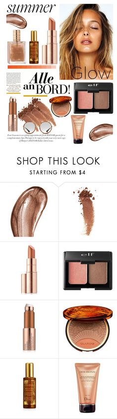"""""""Summer Glow #bronze #summerglow"""" by londynalei ❤ liked on Polyvore featuring beauty, Laura Mercier, Gucci, Estée Lauder, Charlotte Russe, Clarins, By Terry and Christian Dior"""