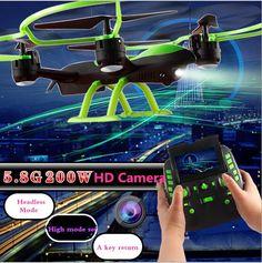 81.00$  Watch now - http://aliiem.worldwells.pw/go.php?t=32684539923 - SKY HAWK 1331W big RC Drone 4CH 2.4G 2MP 5.8G FPV Real-time Transmission A Key Return pressure attitude Plane Model Toys vs X8G 81.00$