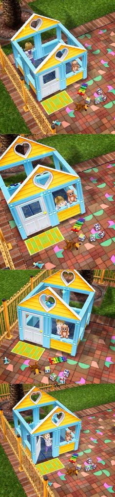 Sooo cute!!! I love playing in a playhouse. The only time I did was when I was in my pre-sch... Can't resist taking all these four pic of my toddler in sim Freeplay, I love the pic in which she holds bear, and the second best is when she opened the door. ^^