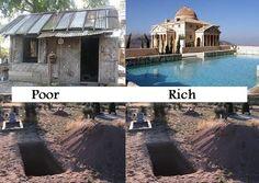 上 - 生前貧窮與富貴, 下 - 死後貧窮與富貴