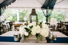 hydrangea centerpiece | Juliet Elizabeth #wedding