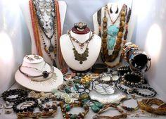 Vintage Jewelry Lot 65 PC Ethnic Tribal BoHo Styles KJL Chicos Italy 1928 Avon SOLD