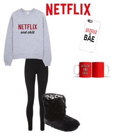 Let's Netflix & Chill by gracie-sophia on Polyvore featuring polyvore, Sweaty Betty, Dearfoams, Casetify, fashion, style and clothing