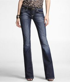 Express Rerock Boot Cut Jeans. Look amazing on and slim your booty. Expensive :(.