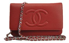 Chanel WOC Red Caviar Leather