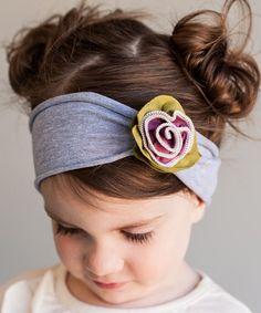Snugars Ivory & Plum Victorian Rose Headband   zulily
