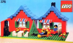 Lego house late 1970s. I still have this & my kids play with it.