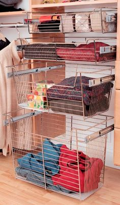 From small to Large - Baskets are a great way to store items in your Closet - Inspiration California Closets DFW