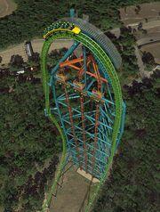 WOW.... Seven Flags ride. Zumanjaro inside Kingda Ka coaster's tower