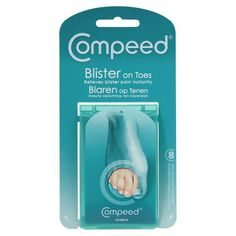 Compeed Blister on Toe: New advanced plasters that work like a second skin. Prevents and treats blisters providing instant relief from pain and pressure. This pack (at back of picture) designed especially for toes. Toe Blister, Bunion Pads, Feet Care, Picture Design, Plaster, Can Opener, Home Remedies, Body Care, Camino De Santiago
