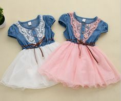 Find More Dresses Information about 2015 new fashion Girls baby Lace Belt tutu cowboy dress children Patchwork mesh dresses for girl,High Quality dress slip,China dress lobster Suppliers, Cheap dress model for girl from ColorArt Co. LTD on Aliexpress.com