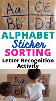Alphabet Sticker Sorting: Easy Low-Prep Educational Activity For Toddlers and Preschoolers