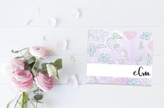 Custom Stationary | Purple Floral | Monogram | Personalized Note Cards | Thank You Cards | Personalized | Thank You Notes | Folded Notes by ELouiseDesigns on Etsy