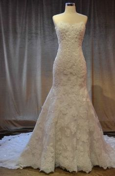 x - Strapless Lace Wedding Dresses, Lace Bridal GOwns